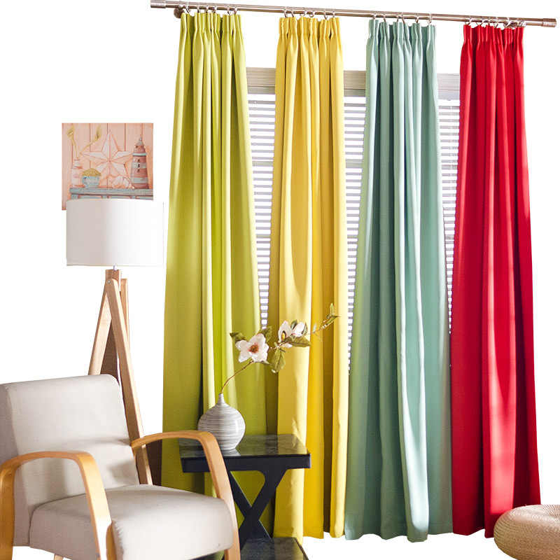 Unique Mint Curtain Thick Matt Blackout Solid Curtain Door Window Treatment Bedroom Living Room Curtain Custom Home Deco Drape