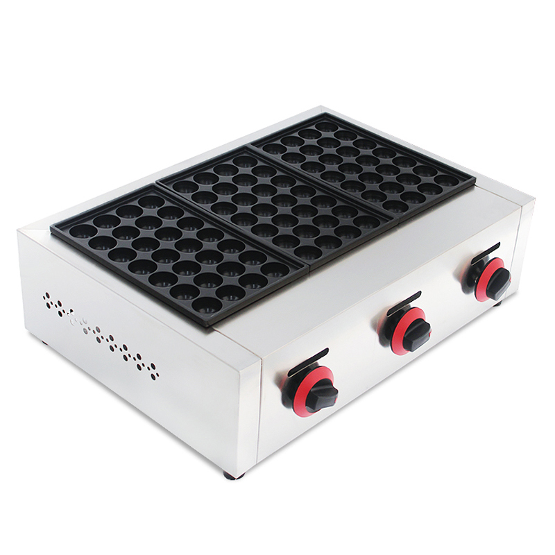 1 PC Gas Type Three Board Meat Ball Forming Machine/ Fish Ball Maker/Takoyaki Maker Machine 3 Plate Hot Sale