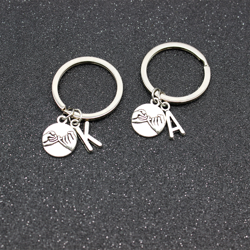 Couple Keychain 26-Letter Hand-Held Agreement Parent-Child