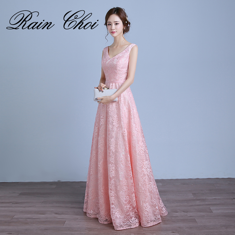Long   Prom     Dresses   2019 Elegant Formal Gown Lace Special Occasion   Dress