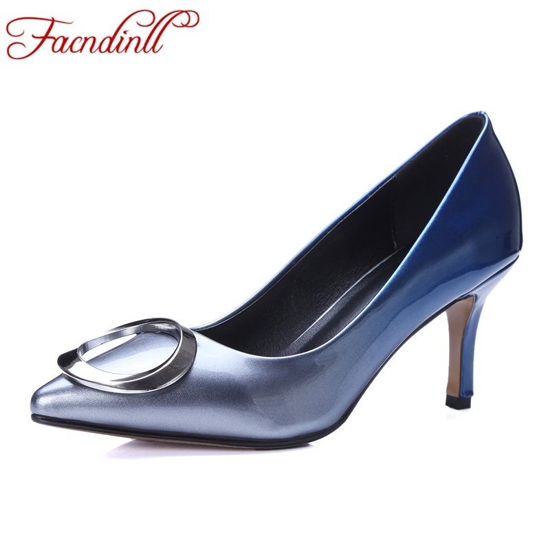 brand shoes women pumps spring autumn all match OL thin high heel fashion pointed toe buckle high heels wedding party shoes lady moonmeek new arrive spring summer female pumps high heels pointed toe thin heel shallow party wedding flock pumps women shoes