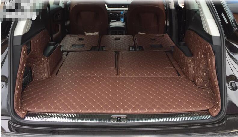 Beste qualität! vollen satz stamm matten für Neue Audi Q7 7 sitze 2017 wasserdichte langlebige cargo liner teppiche für Q7 2016  freies verschiffen -