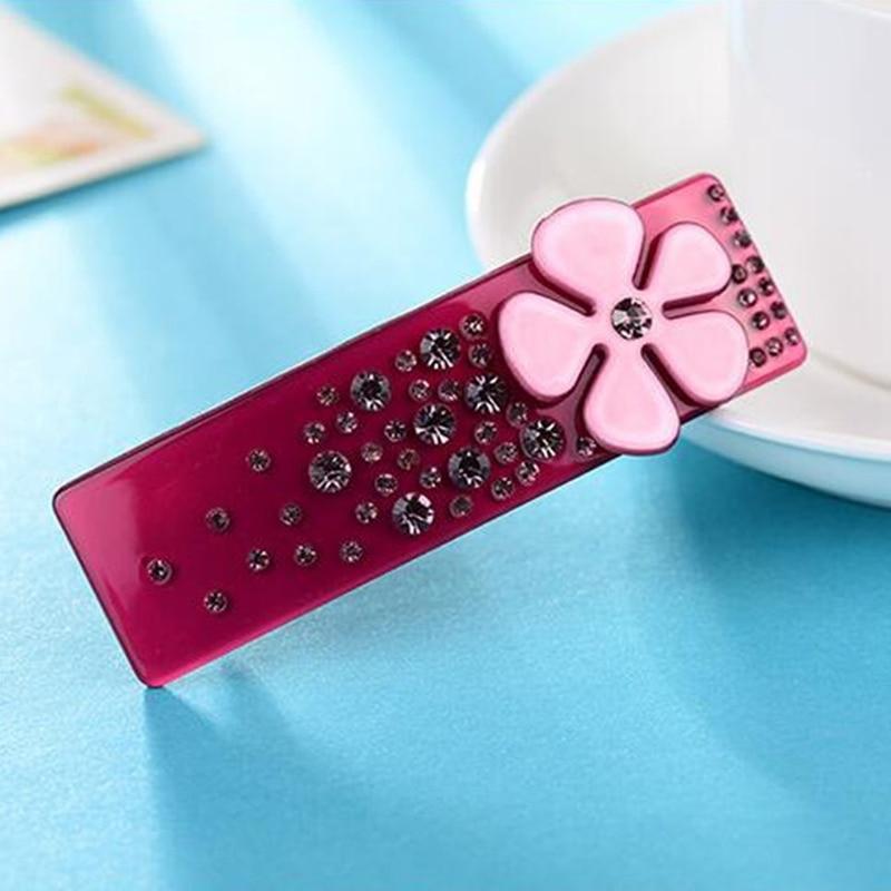 Barrette Accessories Hairpins Acetate Flower Rhinestone for women Hair Clip