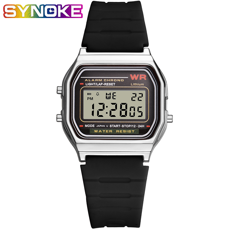 SYNOKE Men Watches Fashion Digital Clocks Outdoor  Sports Wrist Watch Multi Function Luminous Watches For Men And Women