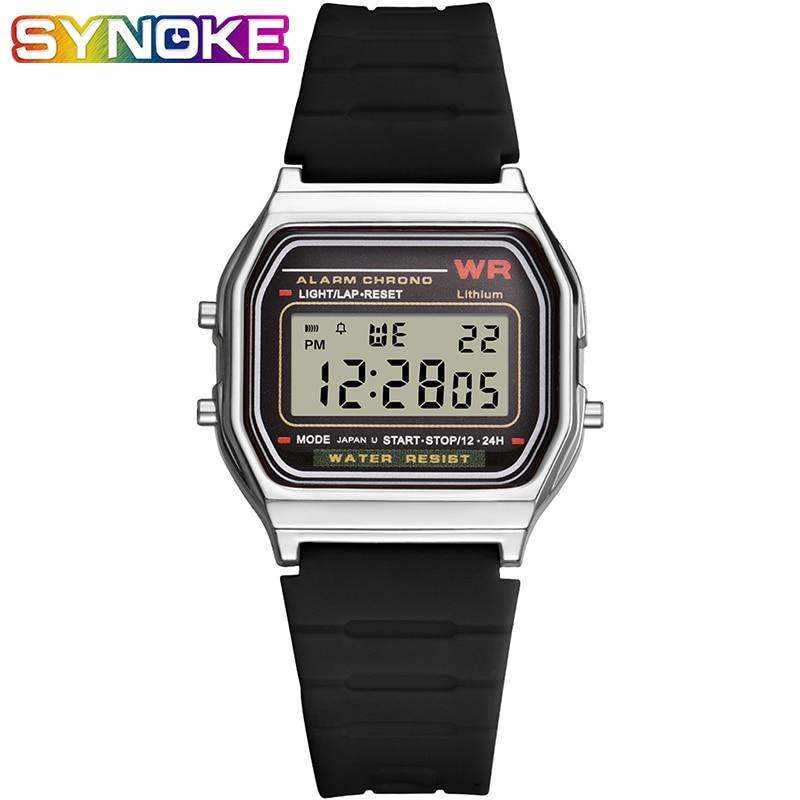 SYNOKE Men Watches Fashion Digital Clocks Outdoor  Sports Wrist Watch Multi Function Luminous Watches For Men And Women