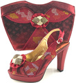 New Wine Color Italian Shoes With Matching Bags African Sheos And Matching Bags To Match For Parties Elegant sets ME6607