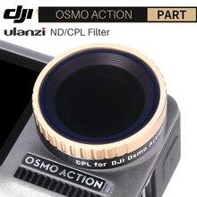 Filtro de lente de câmera ulanzi, filtro de lente para dji osmo action nd8 nd16 nd32 nd64