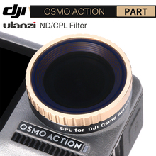 Ulanzi CPL Lens Filter per Dji Osmo Action ND8 ND16 ND32 ND64 Filtro Dellobiettivo di Macchina Fotografica di Azione Della Macchina Fotografica Accessori