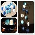 Aladin 3 M 20 Azul Creativo Hecho A Mano de Algodón BOLA Cadena de Luz Para Navidad Fiesta de Banquetes Decoración Ornamento