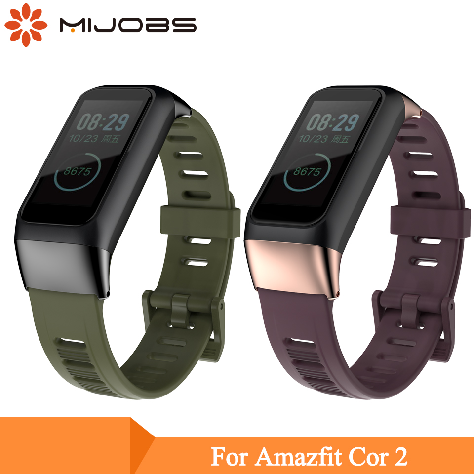 Mijobs Sports Silicone Strap For Xiaomi Huami Amazfit Cor 2 Smart Band Wrist Strap Bracelet For Amazfit Cor 2 Smart Wristband