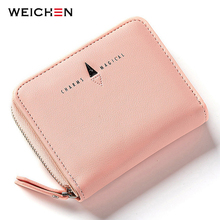 WEICHEN New Style Women Wallets Short Zipper Coin Pocket Letter Hasp Small Purse Ladies Famous Brand Fashion Mini Bags
