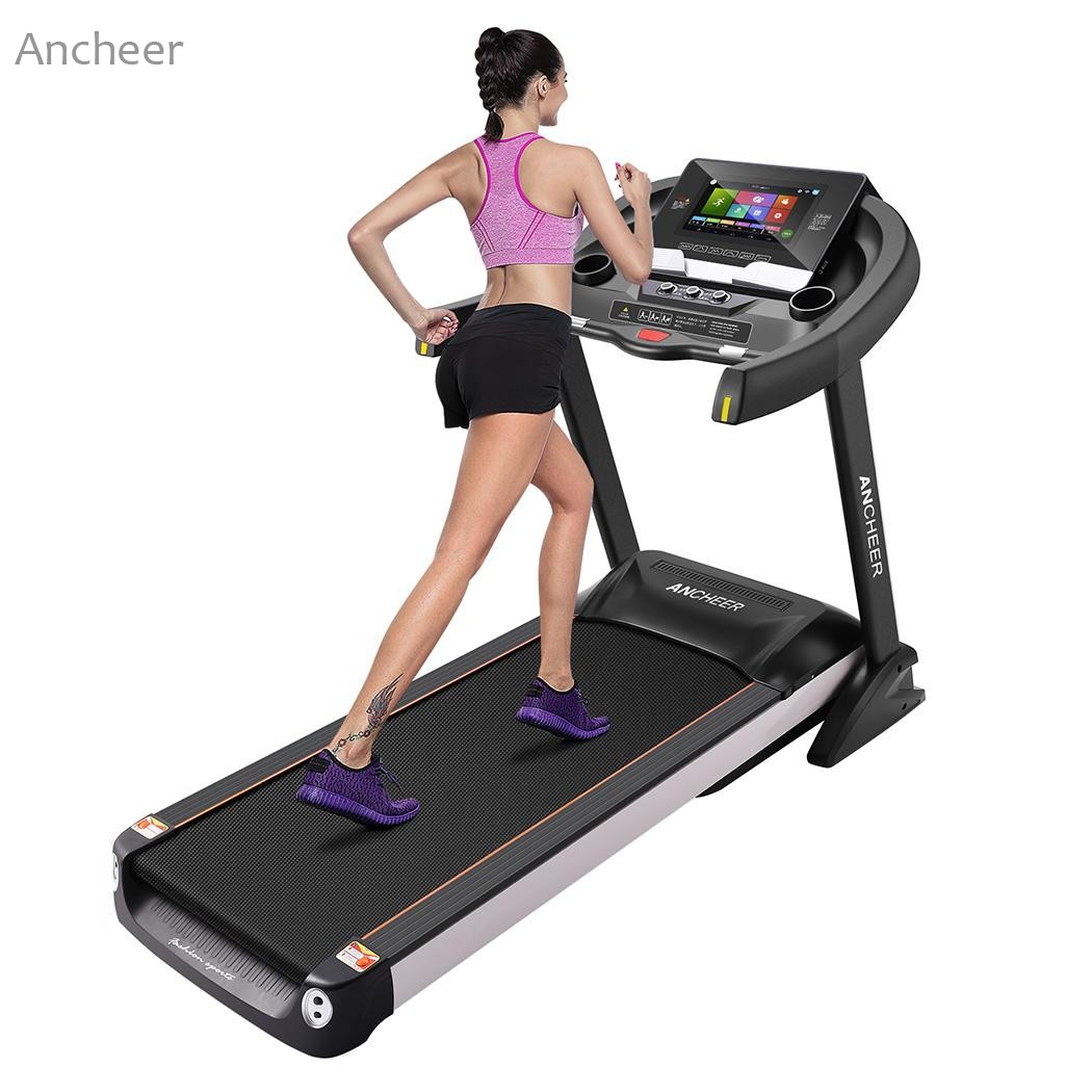 ANCHEER Fitness Folding Electric Treadmill Exercise Equipment Motorized Treadmill Gym Home Walking Jogging Running Machine зеркало в багетной раме evoform definite 58x108 см орех 22 мм by 0723