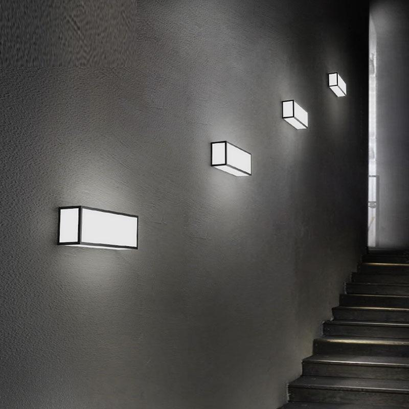 2020 NEW led wall lamp simple modern bedroom bedside lamp creative living rectangular design aisle lights