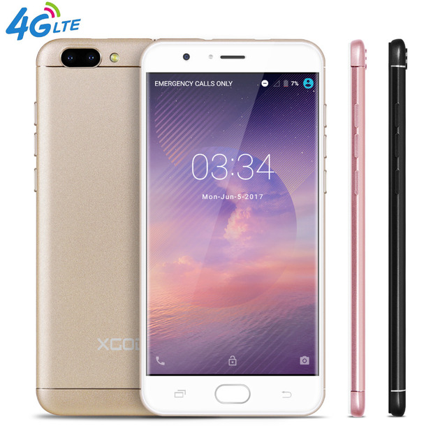 XGODY D18 5.5 Inch 4G LTE Smartphone Android 6.0 Quad Core 1GB RAM 16GB ROM 8.0MP+13.0MP Dual SIM Cell Phones