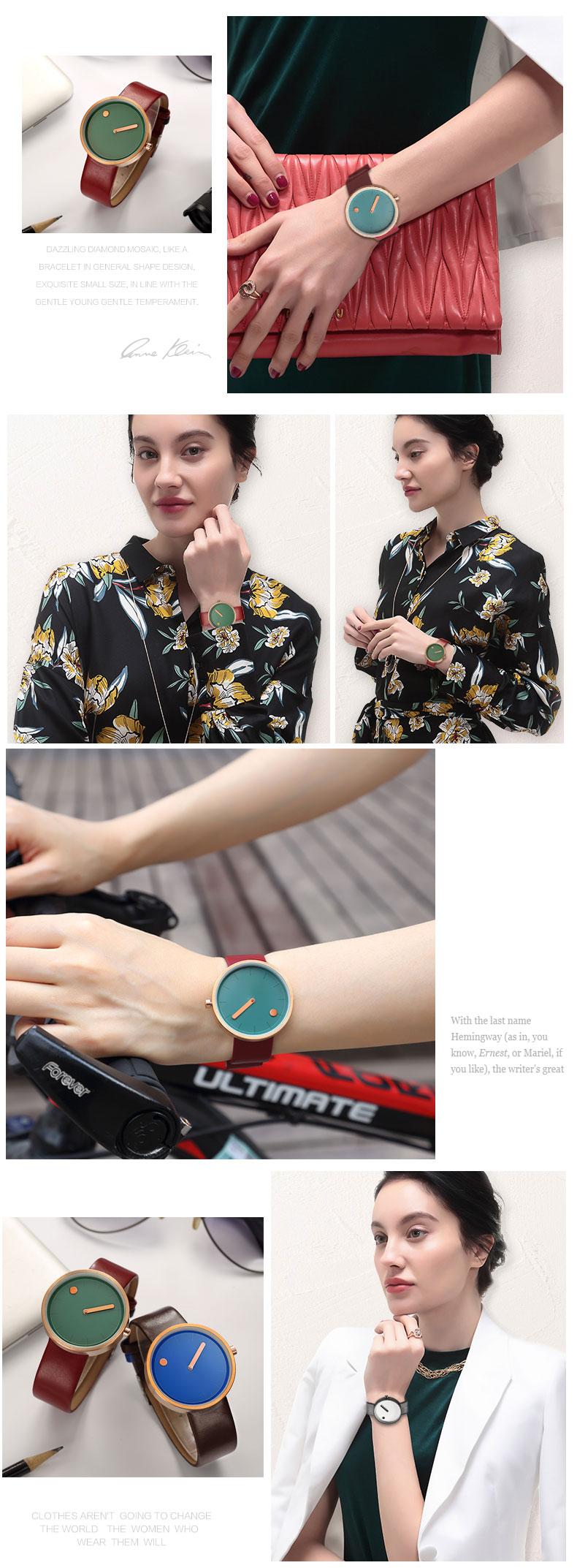 Luxury Designer Brand Quartz Watch Women Leather Casual Ladies Simple Wrist watch Girl Clock Female Creative Gift  relogio 9