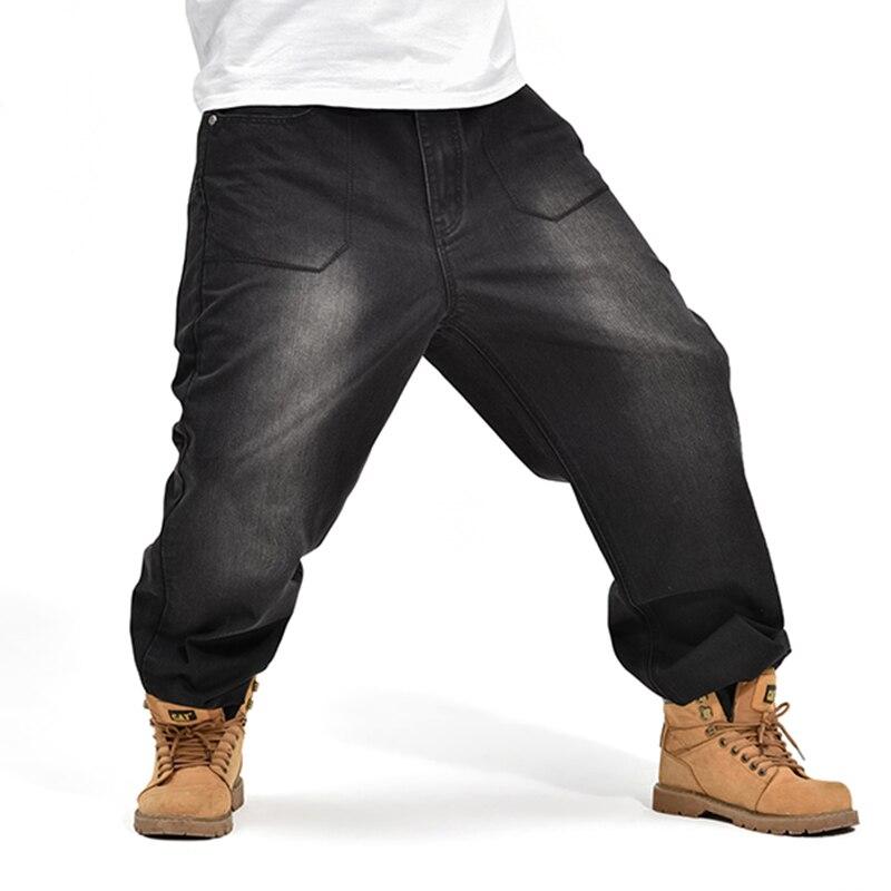 Us30 63letters Plus Baggy Denim On 1799In Men's Pants Jeans Size From Black Skateboard Men Loose Pattern Hop Clothing Hip n0Nm8wv