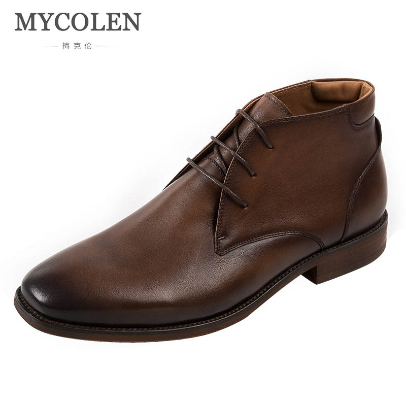 MYCOLEN Autumn And Winter MenS Boots Leather Luxury Product Handmade MenS Leather Boots Leather Chelsea Boots Erkek BotMYCOLEN Autumn And Winter MenS Boots Leather Luxury Product Handmade MenS Leather Boots Leather Chelsea Boots Erkek Bot