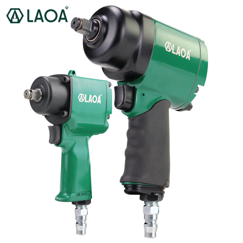LAOA 1/2 Industrial Pneumatic Wrench Small Wind Gun Machine 680 N.m Mini Air Impact Wrench 800 N.m Large Torque Pneumatic Tool pneumatic impact wrench 1 2 pneumatic gun air pressure wrench tool torque 450ft lb