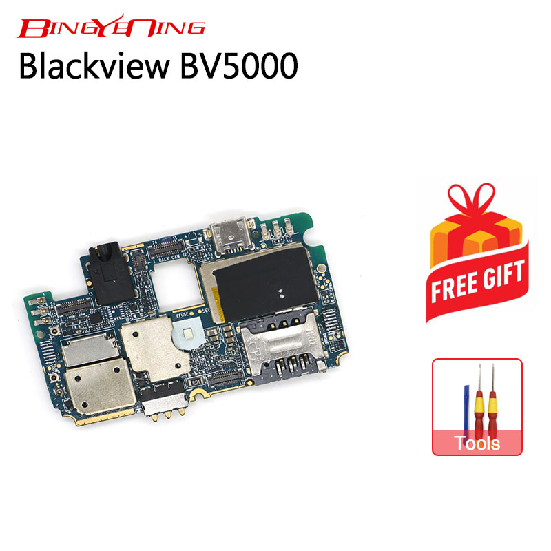 BingYeNing New Original mainboard 2G 16GROM Motherboard flex cable board for Blackview BV5000 Android 6 0