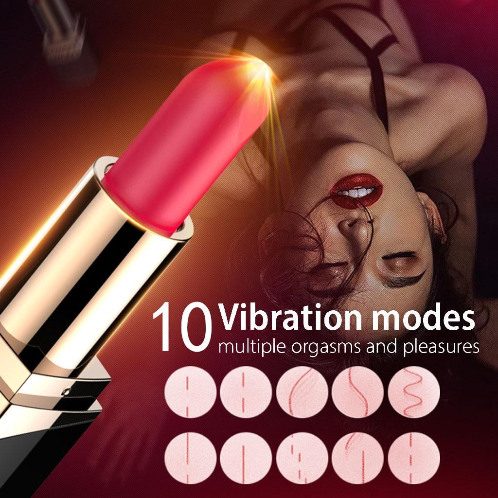 Omysky Lipstick Jump Egg USB Charging Vibration Flirting Female Masturbator X6.4