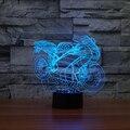 1X Motocicleta Forma Colorido 3D regalo Creativo Luz de la Lámpara LED de Visión Nocturna USB Led Escritorio de la Tabla de Cabecera Decoración Lampara Luz