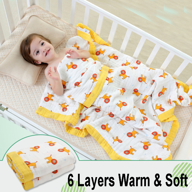 6 Layers Cotton Muslin Baby Blanket Swaddles Bedding 2017 Autumn & Winter Cartoon Cute Infant Bath Towel Kids Quilt Size 47*47 free shipping infant children cartoon thick coral cashmere blankets baby nap blanket baby quilt size is 110 135 cm t01