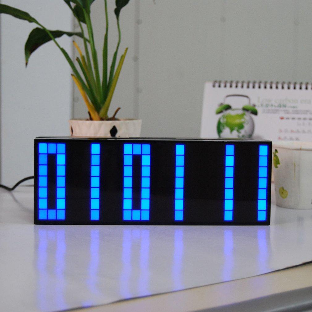 Horloges de alarme numérique LED horloges d'étudiant veilleuse affichage de la température horloges de Table de bureau électroniques