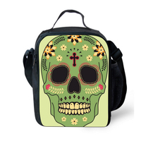 Fashion Portable Insulated Lunch Bag Skull Thermal Food Picnic Lunch Bags for Men Kids Boys Lunch Box Bag Tote Bolsa Termica