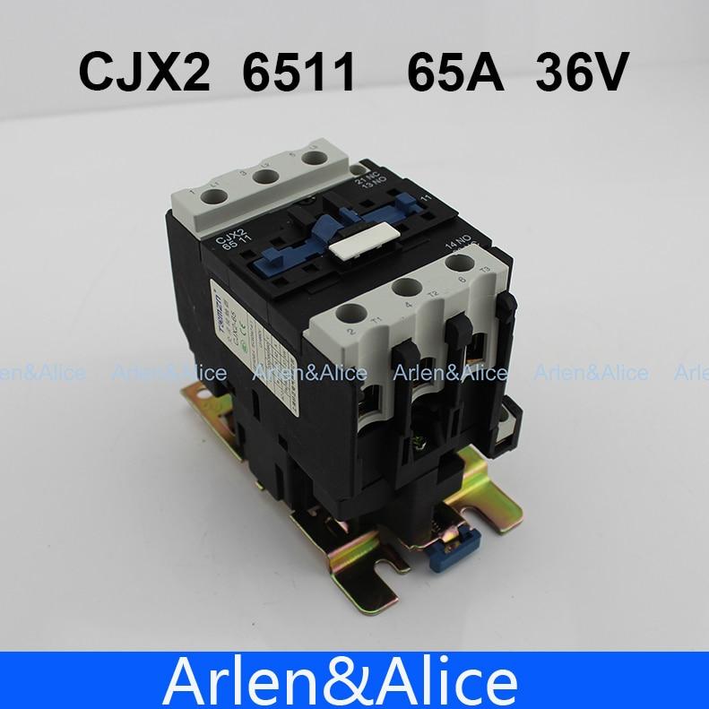 CJX2 6511 AC contactor LC1 65A 36V 50HZ/60HZ