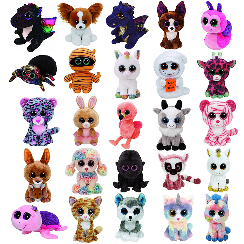 Ty Beanie Boos Gray Cat unicorn Plush Toy Doll Baby Girl Birthday Gift Stuffed & Plush Animals  toys for children Stuffed ToysTy Beanie Boos Gray Cat unicorn Plush Toy Doll Baby Girl Birthday Gift Stuffed & Plush Animals  toys for children Stuffed Toys