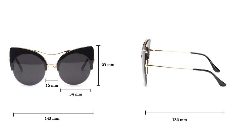 Printed Summer Cat Eye  Sunglasses 1