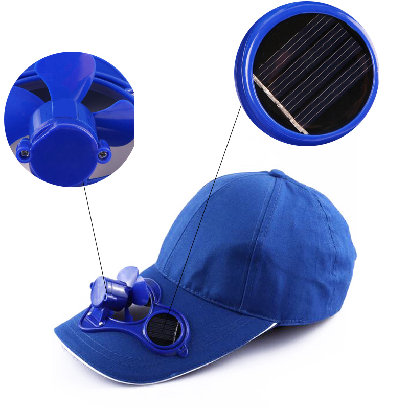f4b5d654cd8 1 Pcs Men Women Summer Hat Cap with Solar Sun Power Cool Fan For Energy  Save No Baeries Required Beach Boater Hats Caps