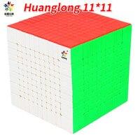 Yuxin Huanglong 11 слоев кубик без наклеек Zhisheng 11x11 11 куб пазл игрушки для детей YX1071