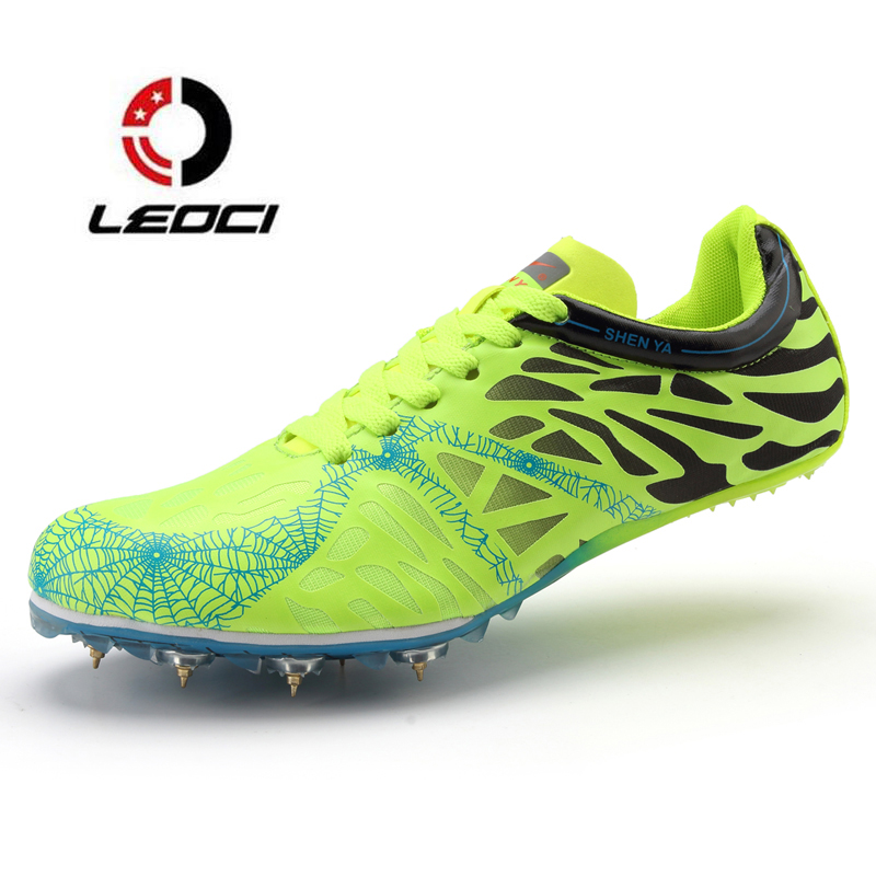 Men Women Spikes Running Shoes Dash Sprint Outdoor Sports Shoes Ultralight Track Field Trainer Sneakers Athletic Shoes Zapatilla