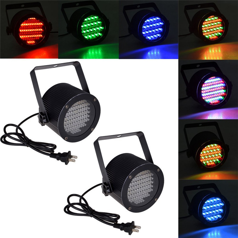 Lumiparty 86 RGB LED Stage Light Disco Par Light Portable RGB Magic Sound Activated Lighting Projector Party Disco Pub