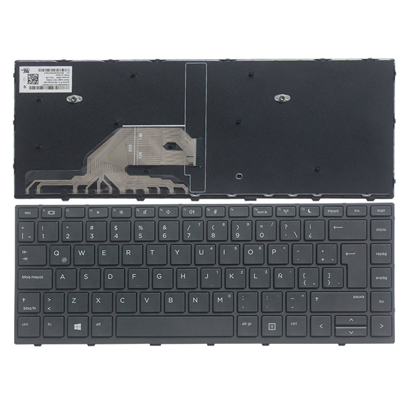 New Latin laptop keyboard for HP Probook 430 G5 440 G5 LA Black Keyboard with Frame laptop keyboard for msi ge60 black fs farsi with black frame