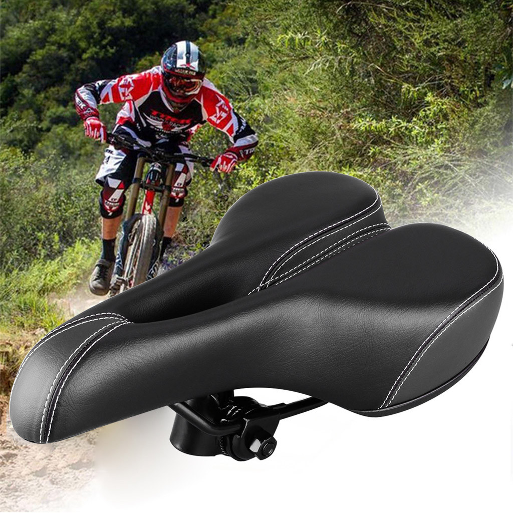 YAFEE  Comfort Wide Big Bum Bike Bicycle Gel Cruiser Extra Sporty Soft Pad Saddle Seat #NE1119