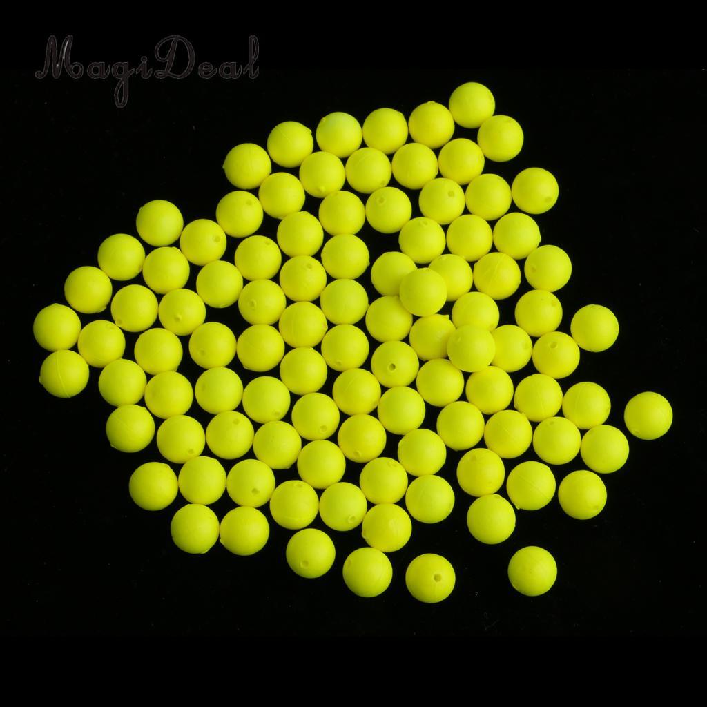 100pcs Fishing Floating Bobbers Drift Ball Foam Strike Indicator Fishing Accessories 6mm 7mm 8mm