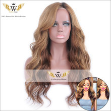 5A 150Density Ombre Blonde Wavy Lace Front Wig Virgin Brazilian Hair Ombre Lace Wig Glueless Full Lace Human Hair Wigs For Women