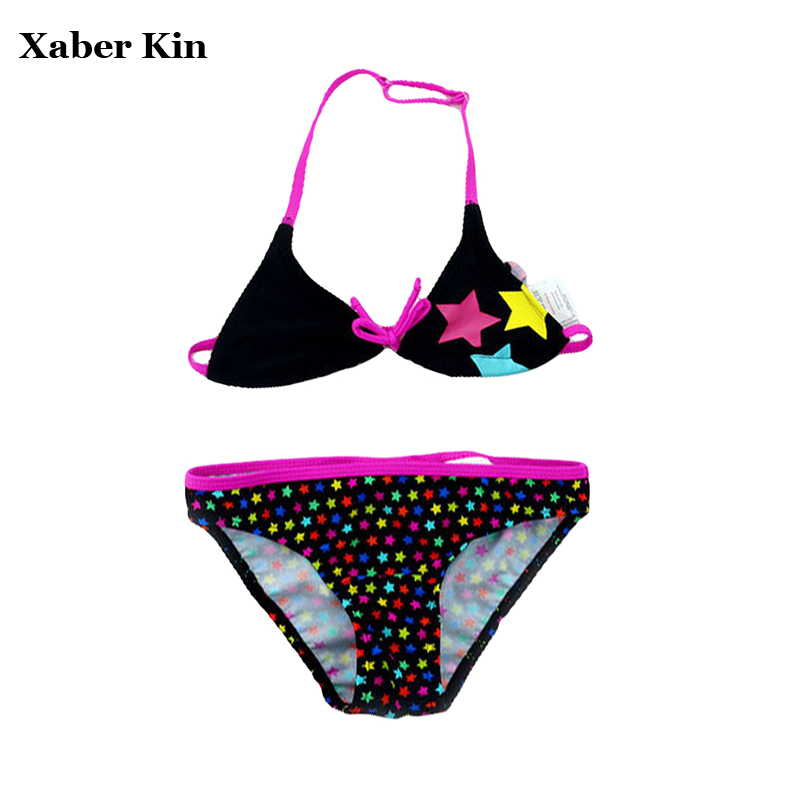 5-16 Years Plus Size Girls BiKini Sets Children Girls Swimsuit Kids Girls Lovely Swimwear Summer Beachwear Biquini Suits G6-K6