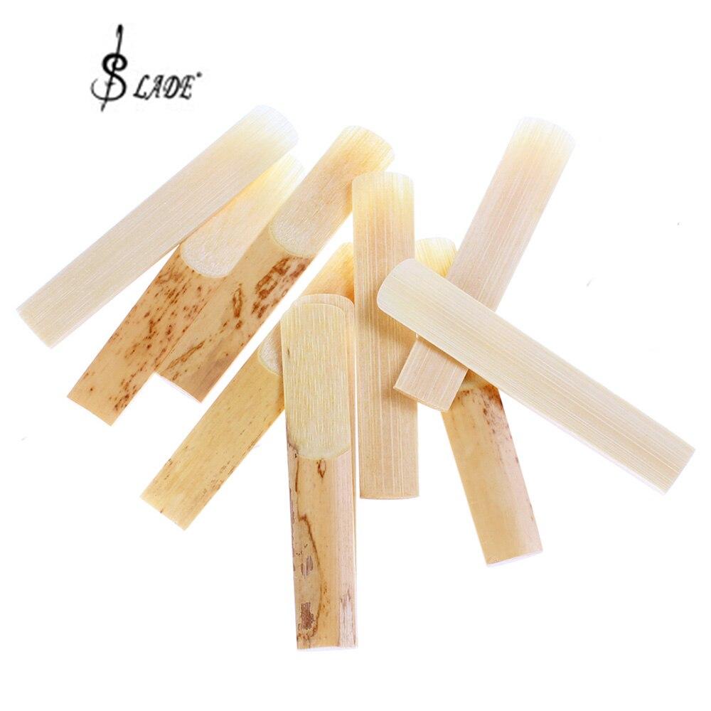 SLADE 10pcs/set Clarinet Bamboo Reeds for 2 1/2 (2.5) Size Clarinet Mouthpiece
