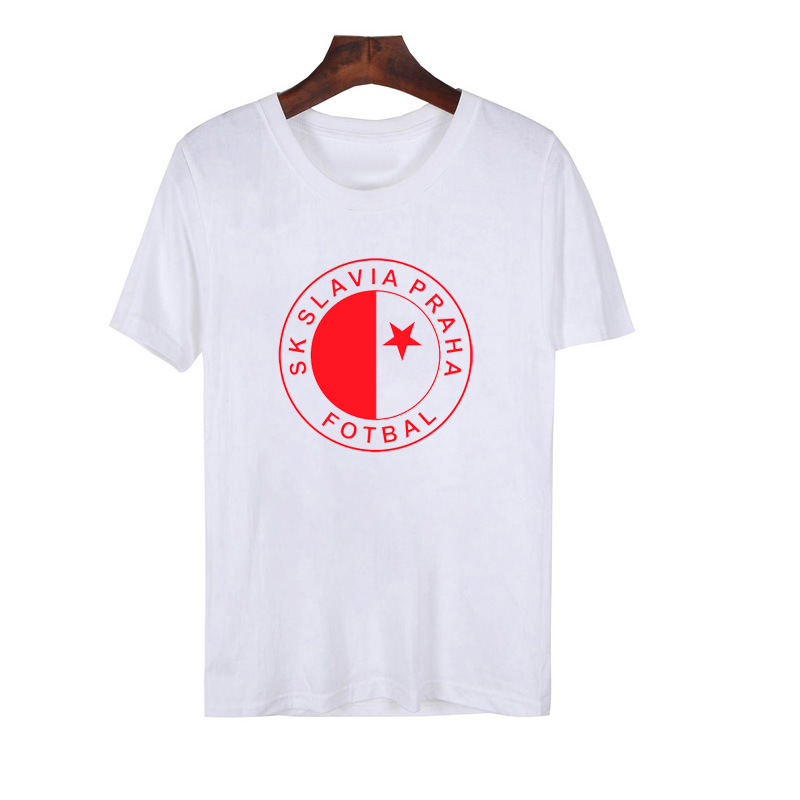 SK Slavia Praha T Shirt Men Czech Republic Prague T Shirt Czech Slavia Praha Club Camiseta Milan Skoda Jaromir Zmrhal T-Shirt