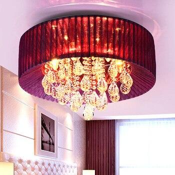 Lampada di cristallo del soffitto rotondo lampada camera da letto stanza la LUCE di soffitto circolare lampada moderna breve lampada creativa decorato ZA621 ZL209 YM