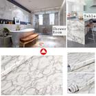 Modern Waterproof Vinyl Self adhesive Wallpaper Marble Paper Kitchen Cupboard Shelf Drawer Liner Wall Stickers