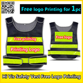 Hi vis vest safety reflective vest free logon printing company promotion gifts