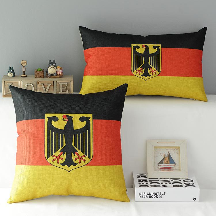 Bulk Throw Pillow Cases : German Flag cotton linen throw pillow case pillowcase Wholesale-in Pillow Case from Home ...