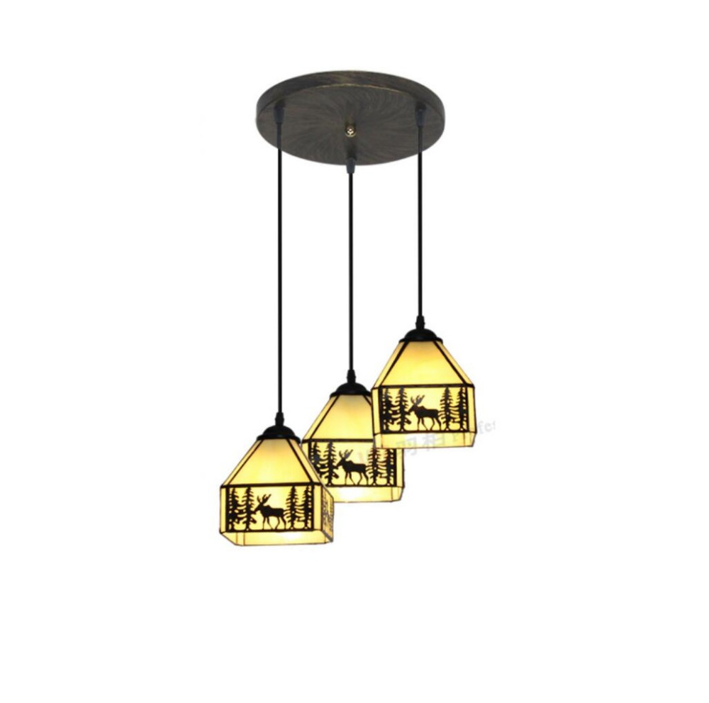 Tiffany European countryside  pendant light simple study bar creative Tiffany  Mediterranean Restaurant DF134  lo9 tiffany restaurant in front of the hotel cafe bar small aisle entrance hall creative pendant light mediterranean df66