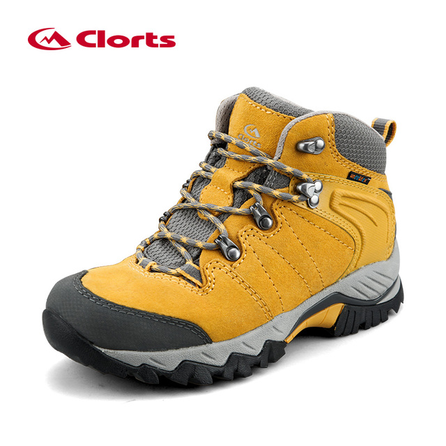Clorts Women's Waterproof Hiking Shoes Genuine Leather Outdoor Tactical Boots Non-slip Trekking Shoes HKM-822