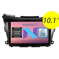 Topnavi 10.1 Quad Core Android 7.1 2G 32G 8 Core Car GPS Navigation for Nissan Murano 2015 Auto radio Multimedia Audio Stereo