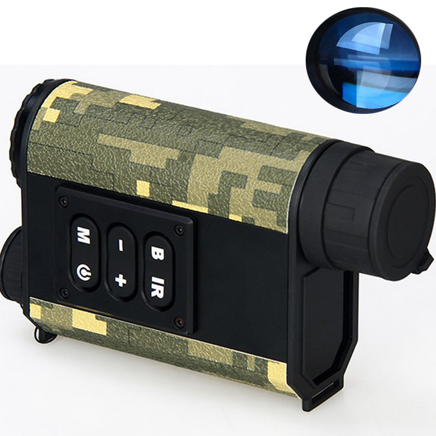 2 Night vision rangefinder monocular night vision infrared telescope hunting night measure height speed laser meter detective 6x цена и фото